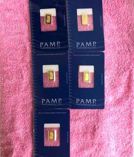 1g Pure Gold Bar (PAMP) ✅