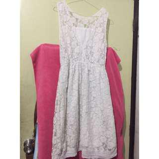 New Look Lace White Dress
