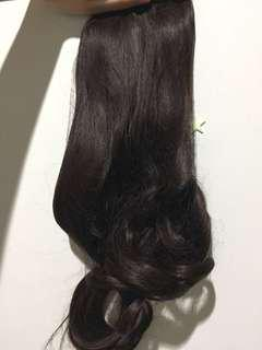 Hair Clip Brown Wavy 40cm