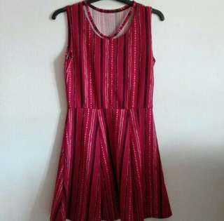 💎 Red pattern skater dress