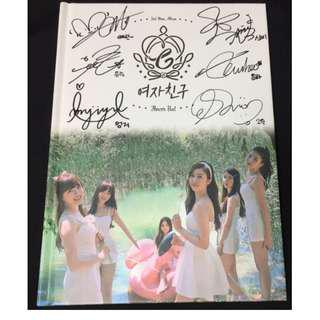 "GFRIEND autographed ""Flower Bud"" 2nd Mini Album singed PROMO CD"