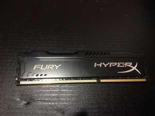 Hyper X Fury Black 8gb RAM