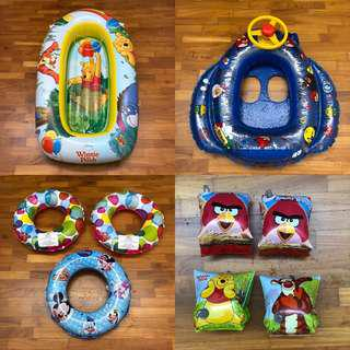 Swimming Boat & Float & Ring - Winnie the Pooh & Disney & Angry Bird