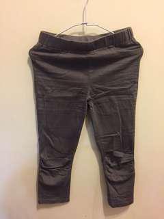 深紫色 七分褲
