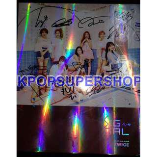 Twice 4th Mini Album Signal Ver. B Signed Autographed Promo CD Great Cond. RARE
