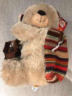 Fizzy 毛公仔袋 熊 bear backpack 二歲以上合用 24m+