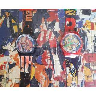 Swatch Watches - Mimmo Rotella's Marilyn Monroe & Bengal Tiger with Puzzle & Poster Set
