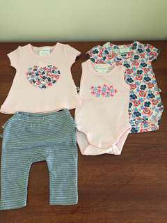 Baby girl size 0000 summer clothing