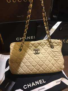 🚚 Chanel 牛皮銀鍊3背包(養樂多色)