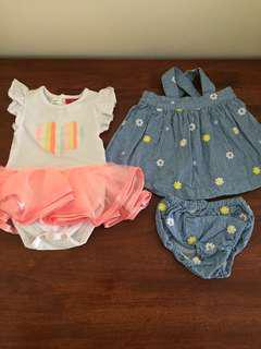 Baby girl size 00 dresses