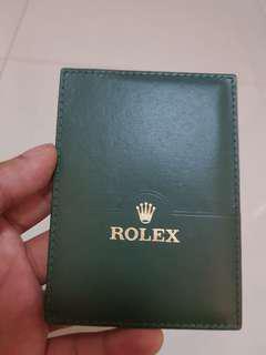 Rolex certificate holder