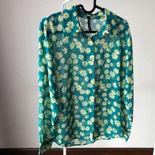 Kemeja lengan panjang floral / long sleeve shirt