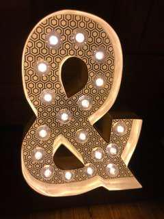 LED 字母燈 「&」字/Pre-wedding PW 道具