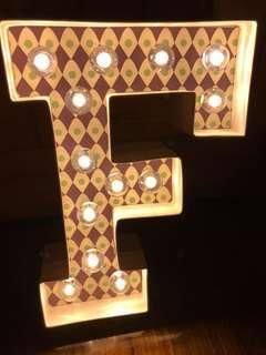 LED字母燈「F」字/Pre-wedding PW 道具