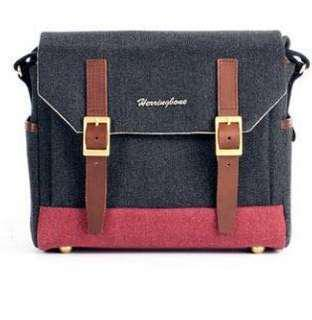 Herringbone Postman Small (Charcoal)