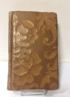 Gorgeous Tan Leather Bound Embossed Travel Address Book; London