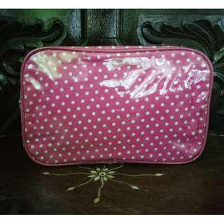 Polka Dotted Pink Pouch