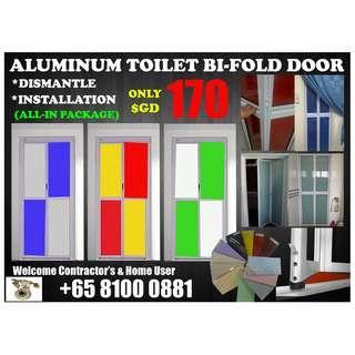 🚚 Aluminum Toilet Bi-Fold, Include Dismantle & Installation