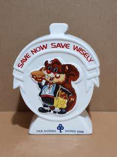 Vintage POSB Your National Saving Bank Porcelain Coin Bank