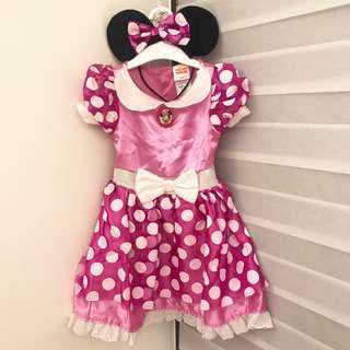 正版Disney Minnie米妮萬聖節洋裝2T Halloween costume