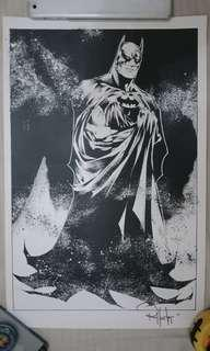 Stunning Batman Print with hand signed autograph of Rob Hunter