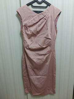 Dusty pink midi dress