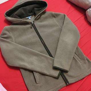 Baleno墨綠刷毛外套