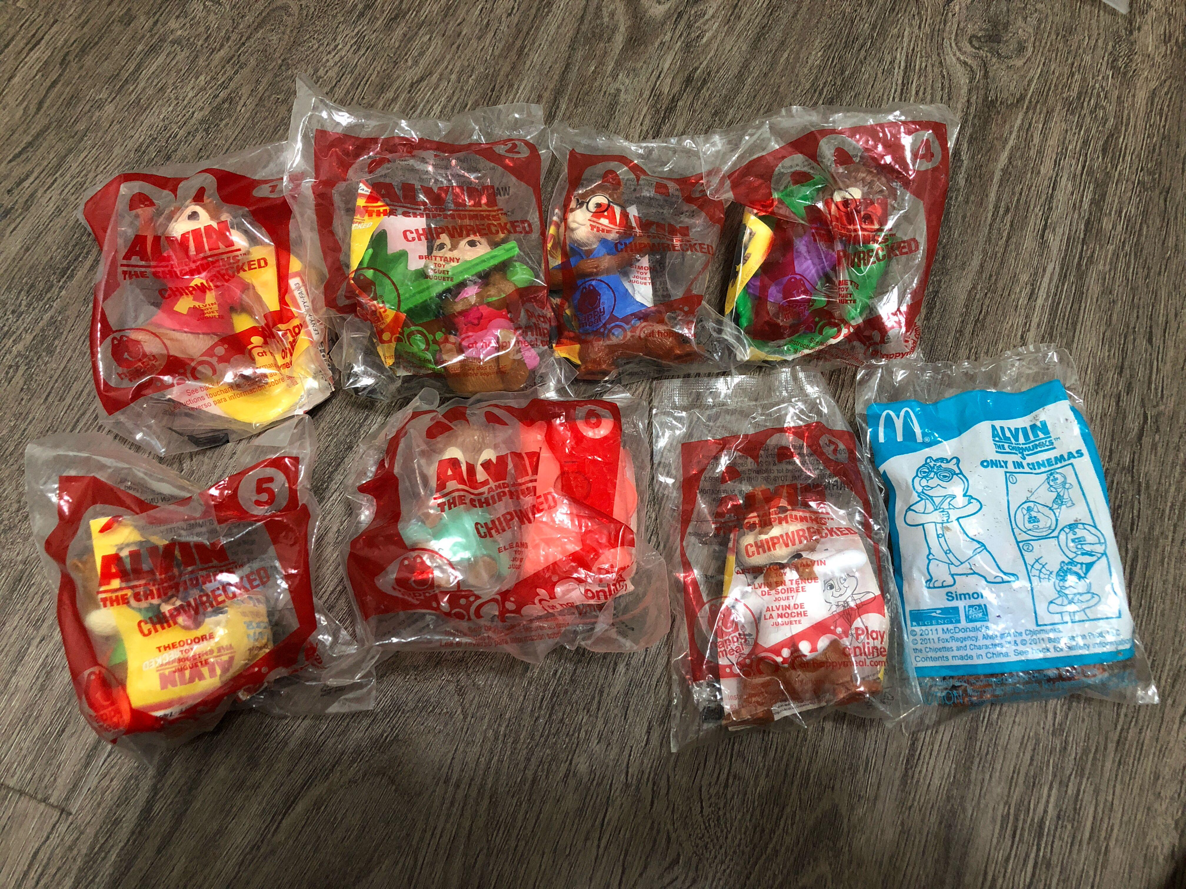 Alvin And The Chipmunks Chipwrecked Mcdonald S Happy Meal Toys Lot Toys Games Others On Carousell