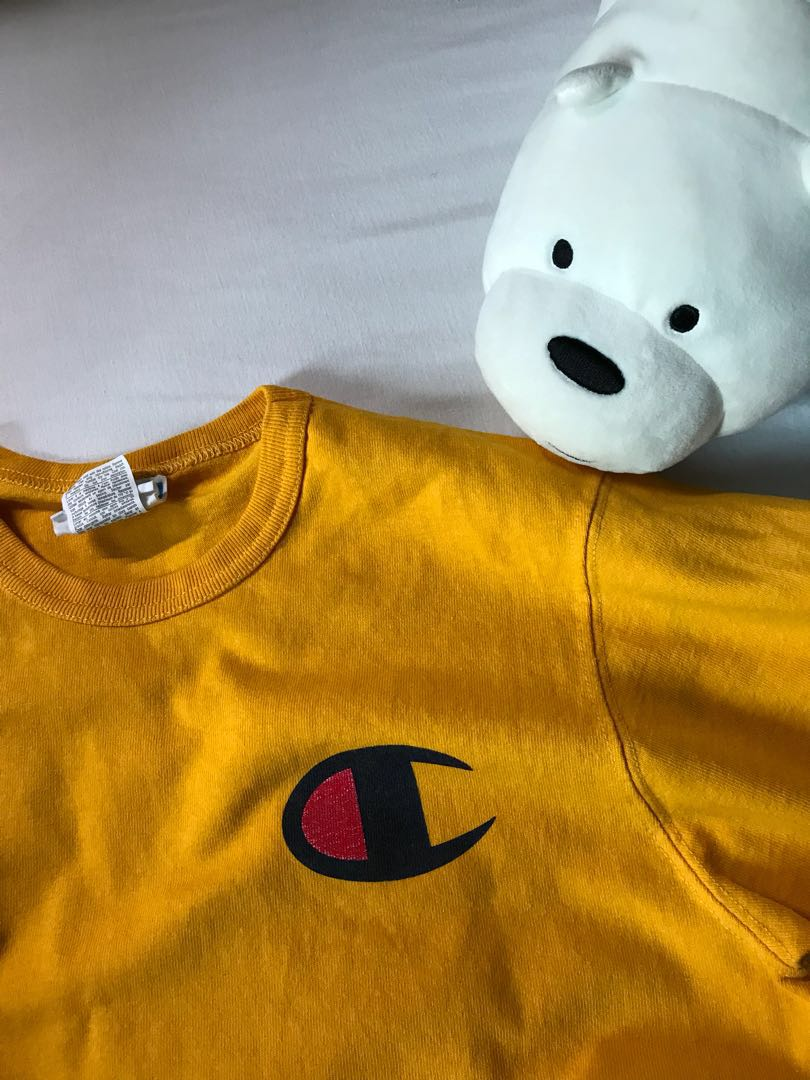8c642f25 authentic champion yellow shirt, Women's Fashion, Clothes, Tops on ...