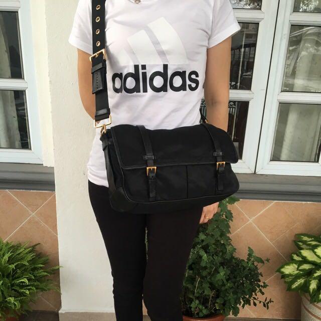 ff2c50a8fd86 Authentic Prada Tessuto Nylon Messenger Bag, Luxury, Bags & Wallets ...