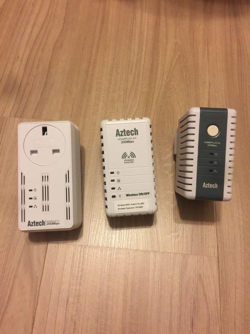 Aztech Homeplug AV WIFI extender