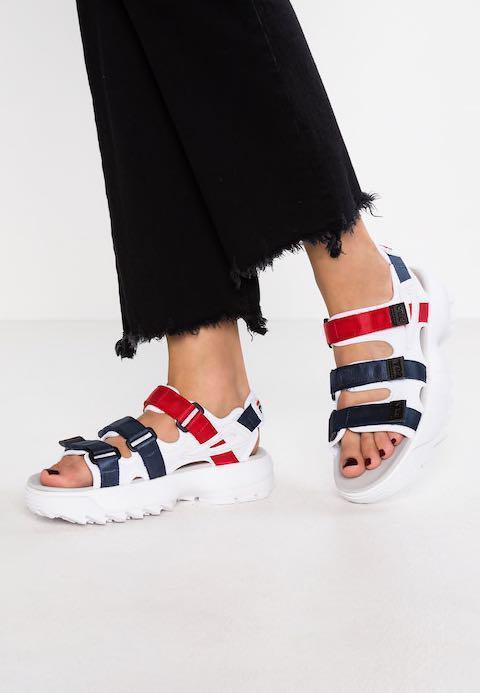 fila sandals white