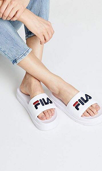 daea07849376 BNIB 100% AUTHENTIC FILA DRIFTER JACKED UP SLIDES - OFF WHITE ...
