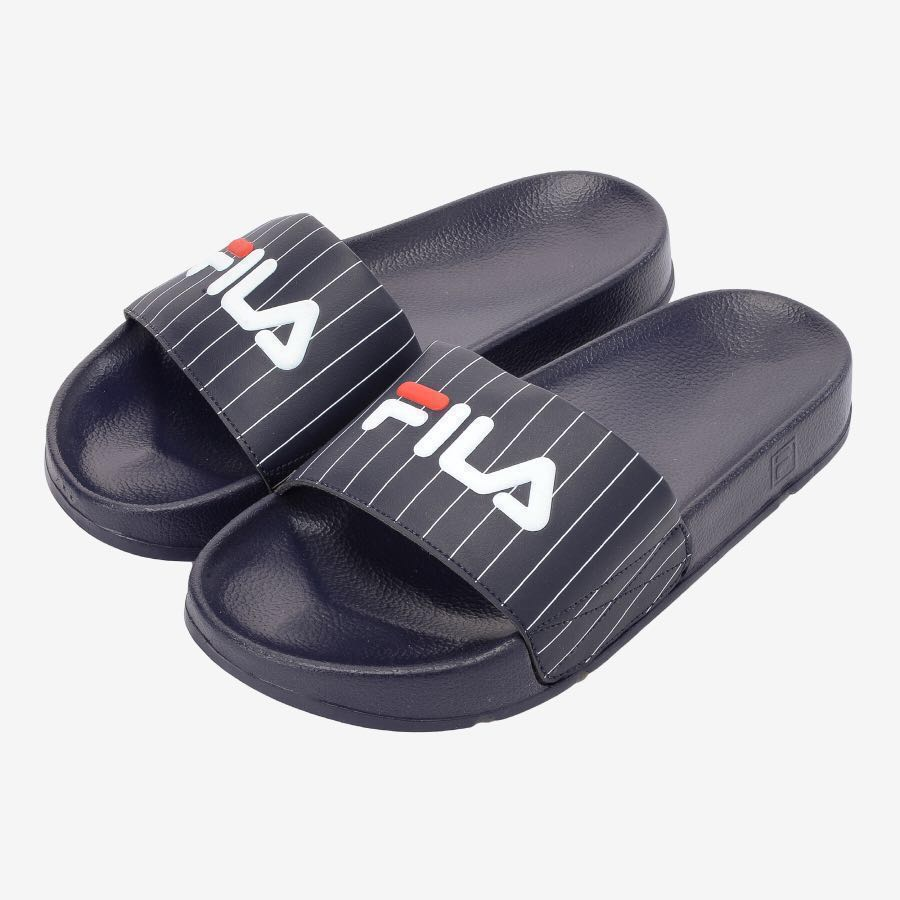 d0fde700481eff BNIB 100% AUTHENTIC FILA DRIFTER SLIDES - STRIPED NAVY
