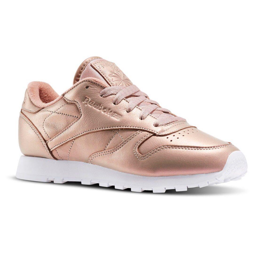 reebok shoes rose gold