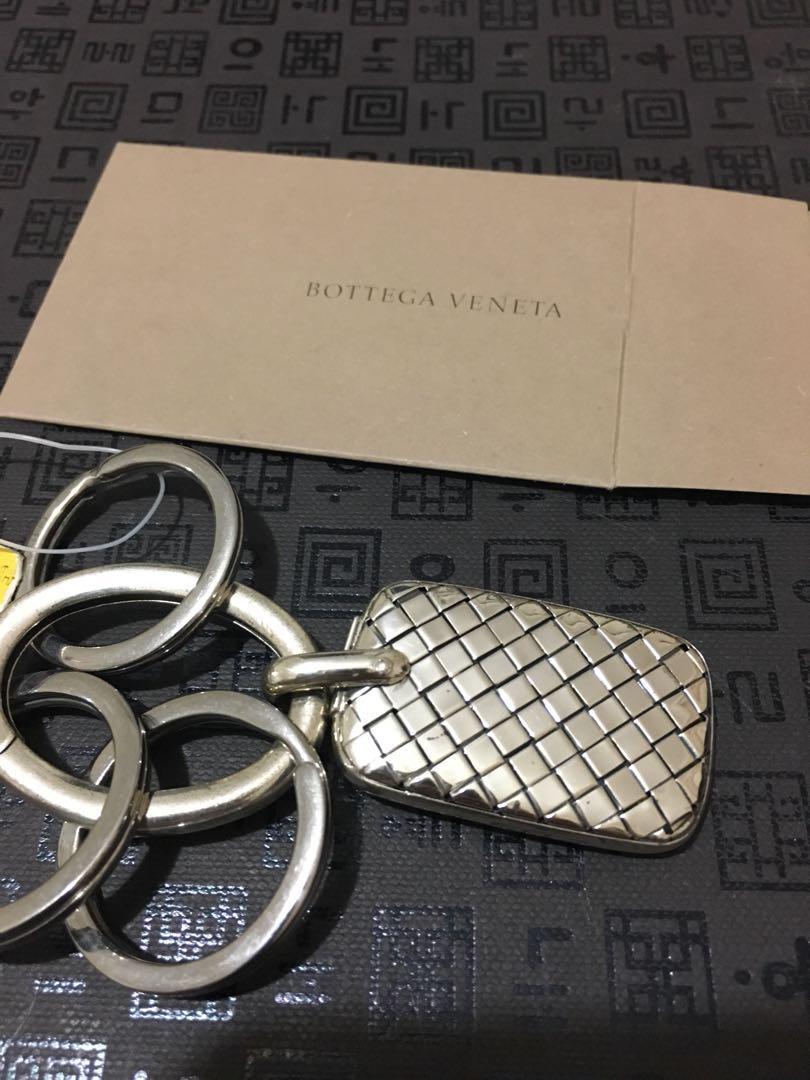 Bottega Veneta Intreciatto Sterling Silver key ring holder