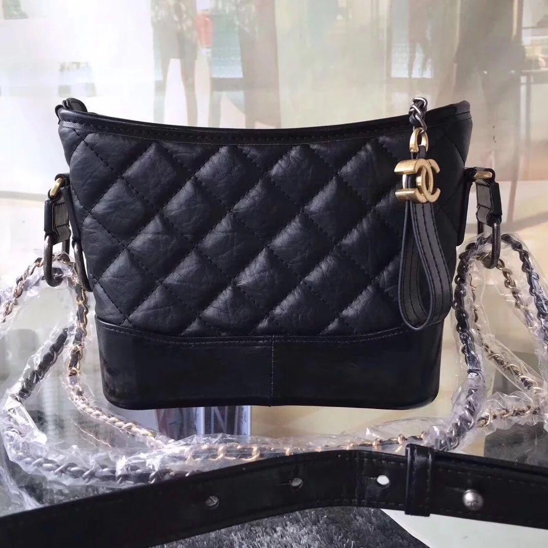ac4720fe7303 Chanel Gabrielle Black Sling Bag, Women's Fashion, Bags & Wallets ...
