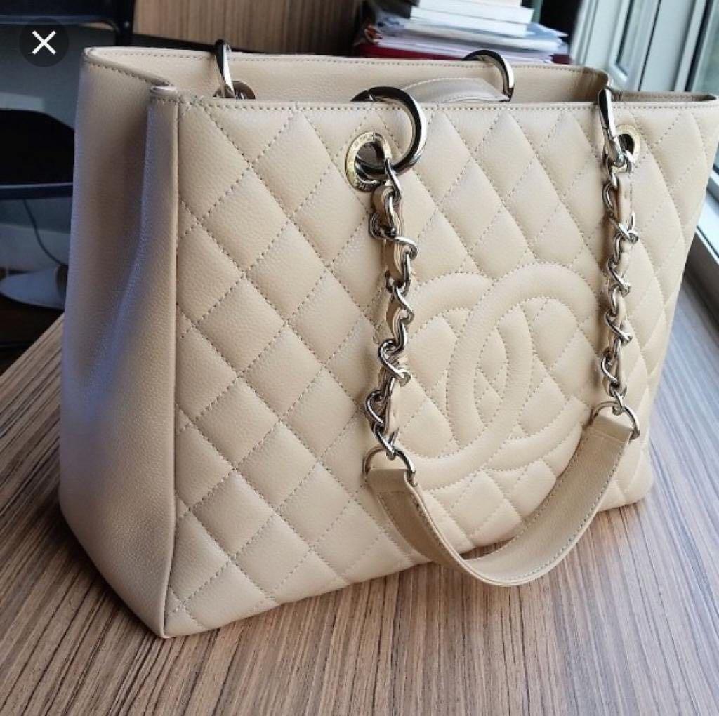 69cd865e4e47 Chanel handbag GST grand shopping tote, Luxury, Bags & Wallets ...