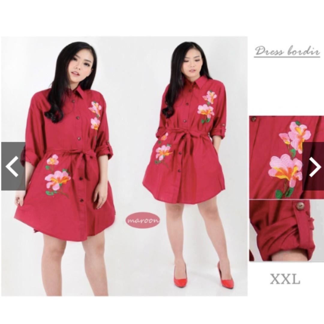 Dress Jumbo Dress Putih Jumbo Dress Kemeja Jumbo Kemeja Panjang Bigsize Tunik Jumbo XXL LD120cm, Women's Fashion, Women's Clothes, Dresses & Skirts on ...