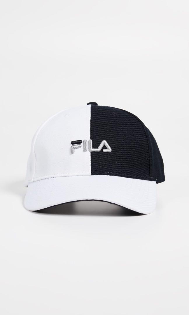 fd08cfb967a Fila Black White Baseball Cap