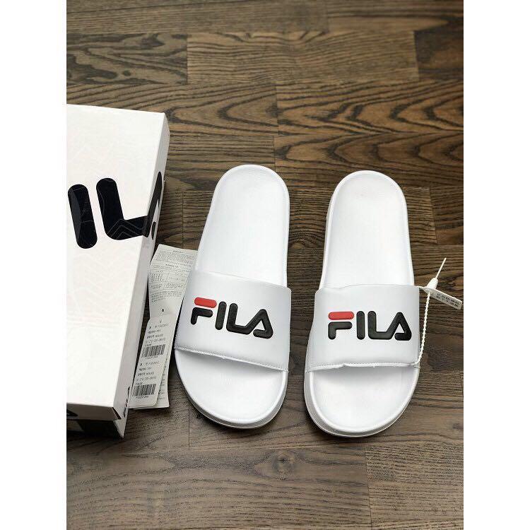 FILA Slip on slippers slides White