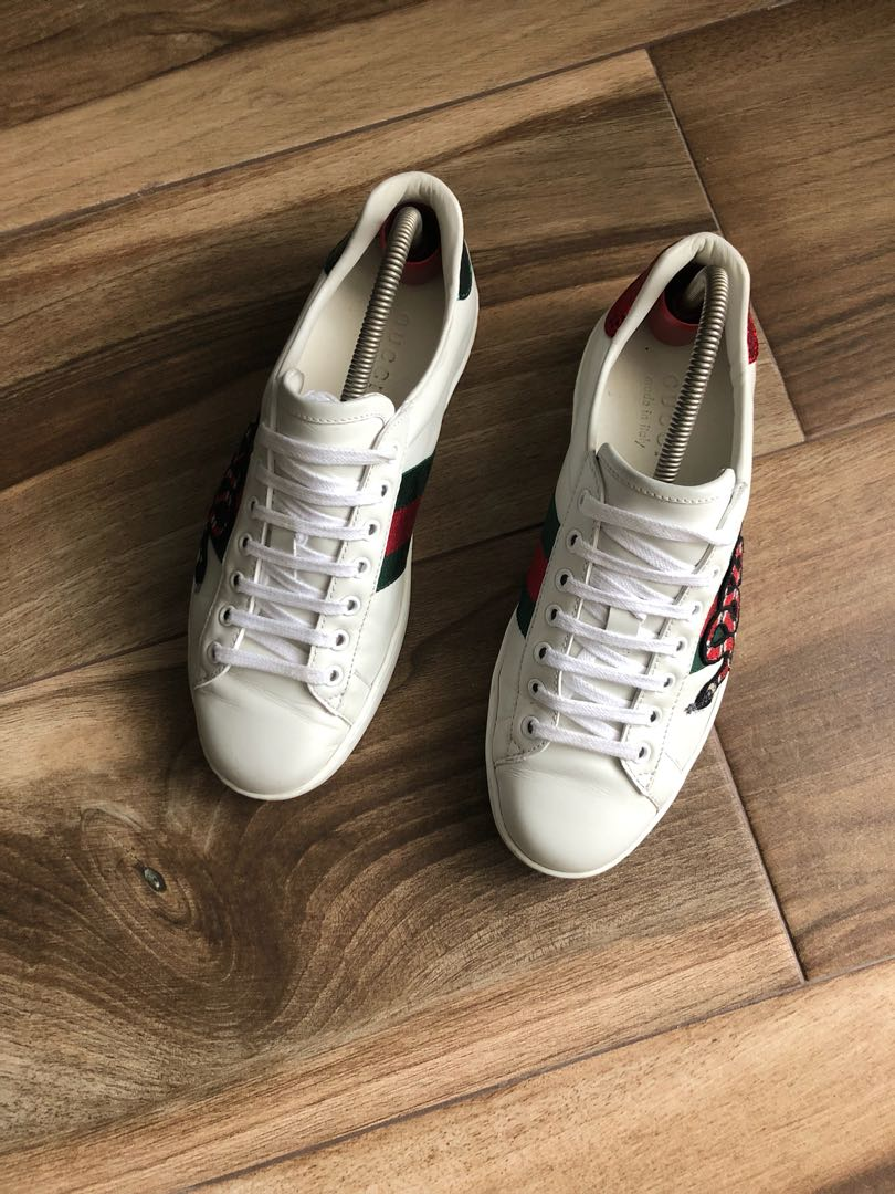 54967639f Gucci Snake Embroidered Ace Sneaker, Men's Fashion, Footwear ...