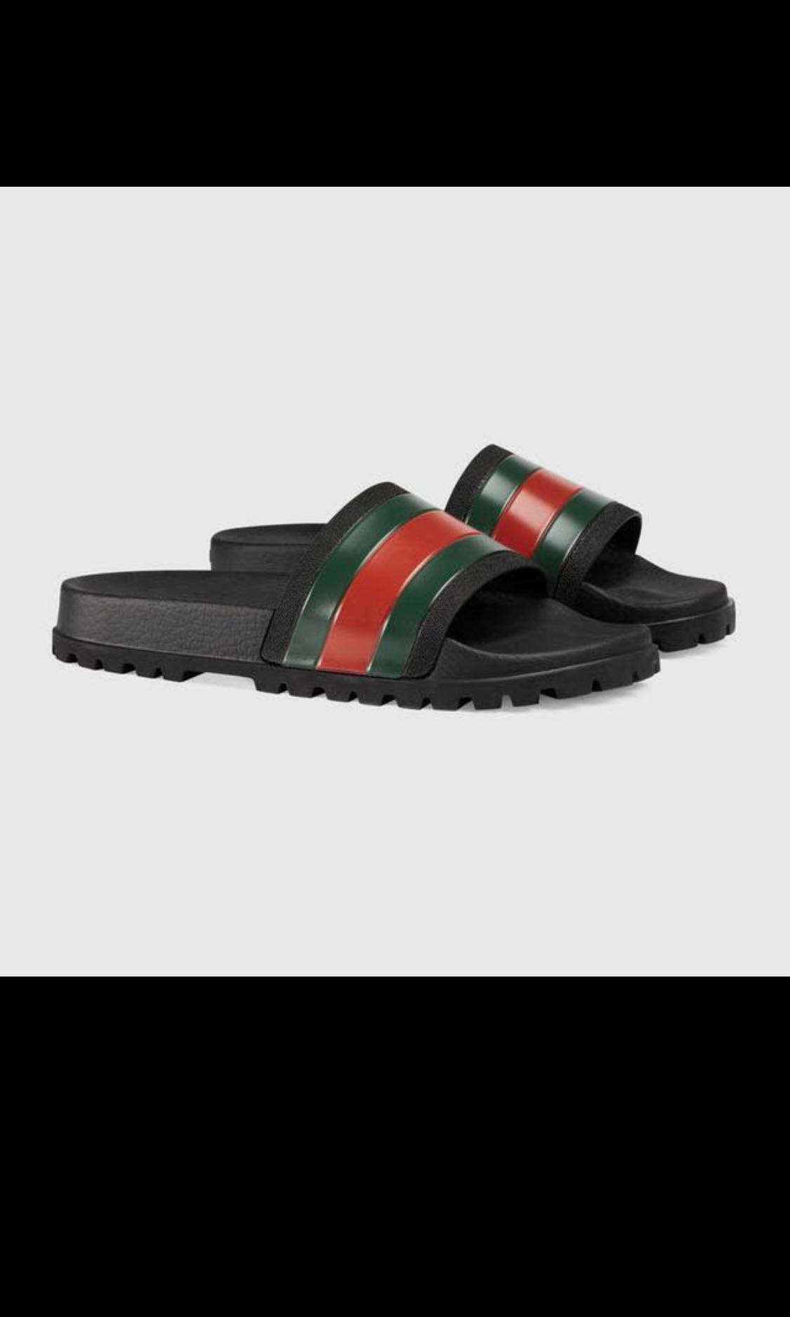 22cab142c GUCCI WEB SLIDERS, Men's Fashion, Footwear, Slippers & Sandals on ...