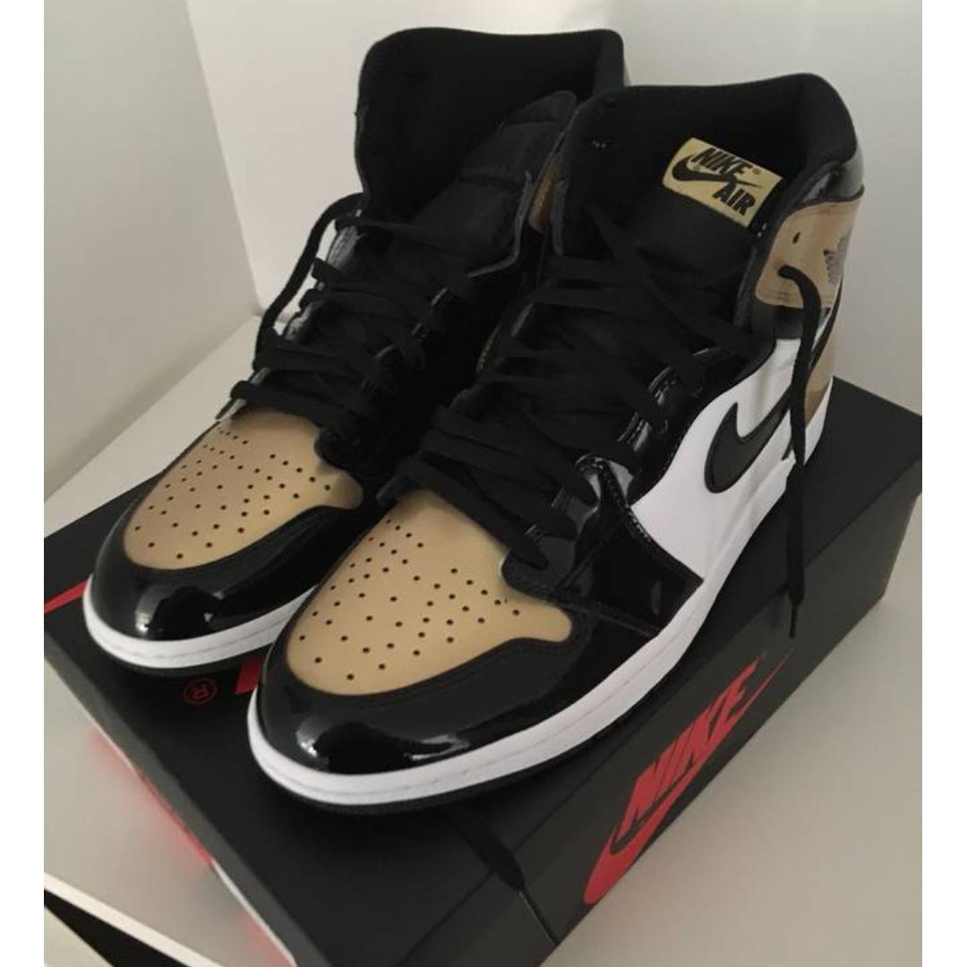 336f1bbbfcf Jordan 1 Retro High NRG Patent Gold Toe, Men's Fashion, Footwear, Sneakers  on Carousell