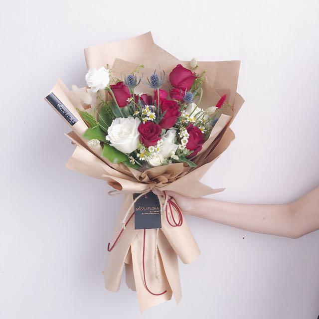 Korean Style Flower Bouquet   Birthday Flower   Anniversary Bouquet ...