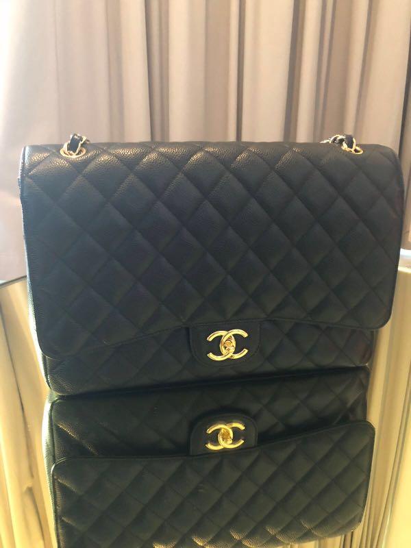 45b80a7abe3a Like-New Chanel Jumbo Caviar, Luxury, Bags & Wallets, Handbags on ...