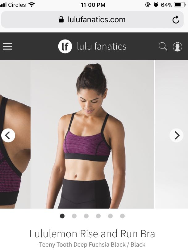 c43baba23c2ca Lululemon Rise and Run Bra