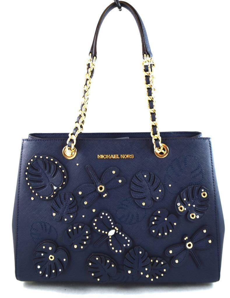4c6957d10d33f5 Michael Kors Susannah Medium EW Tote Dragonfly - Navy S$270 READY ...