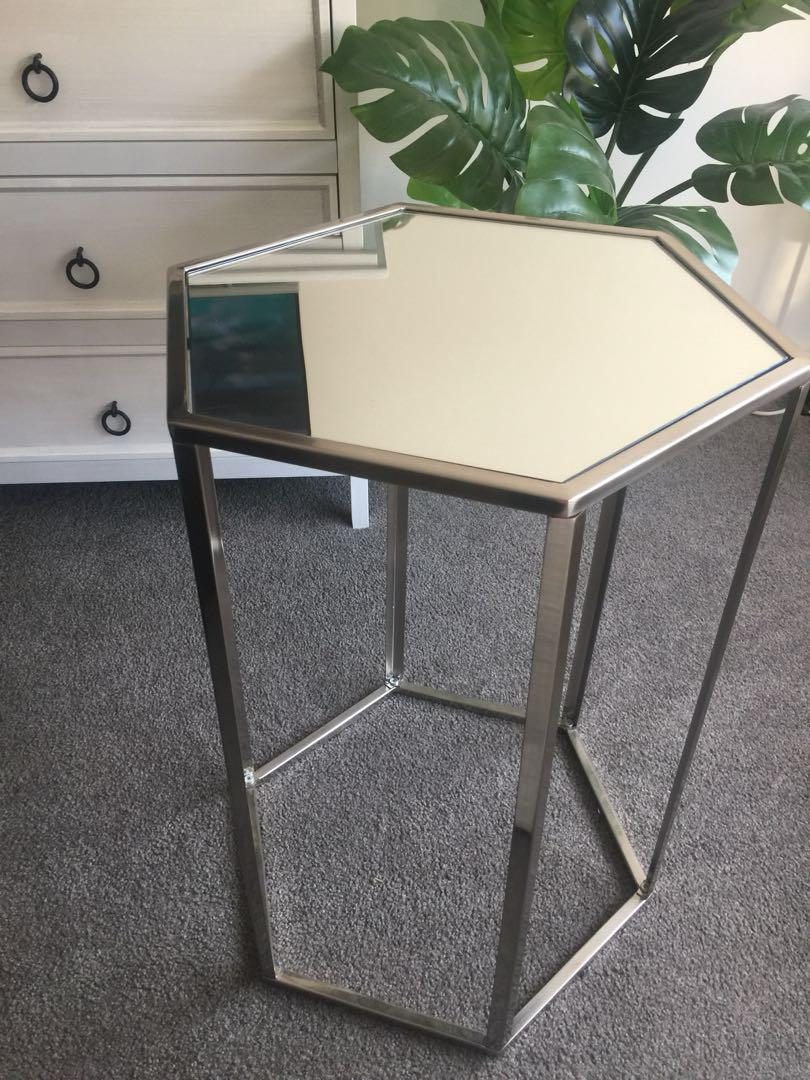 Mirrored Side Occasional Table