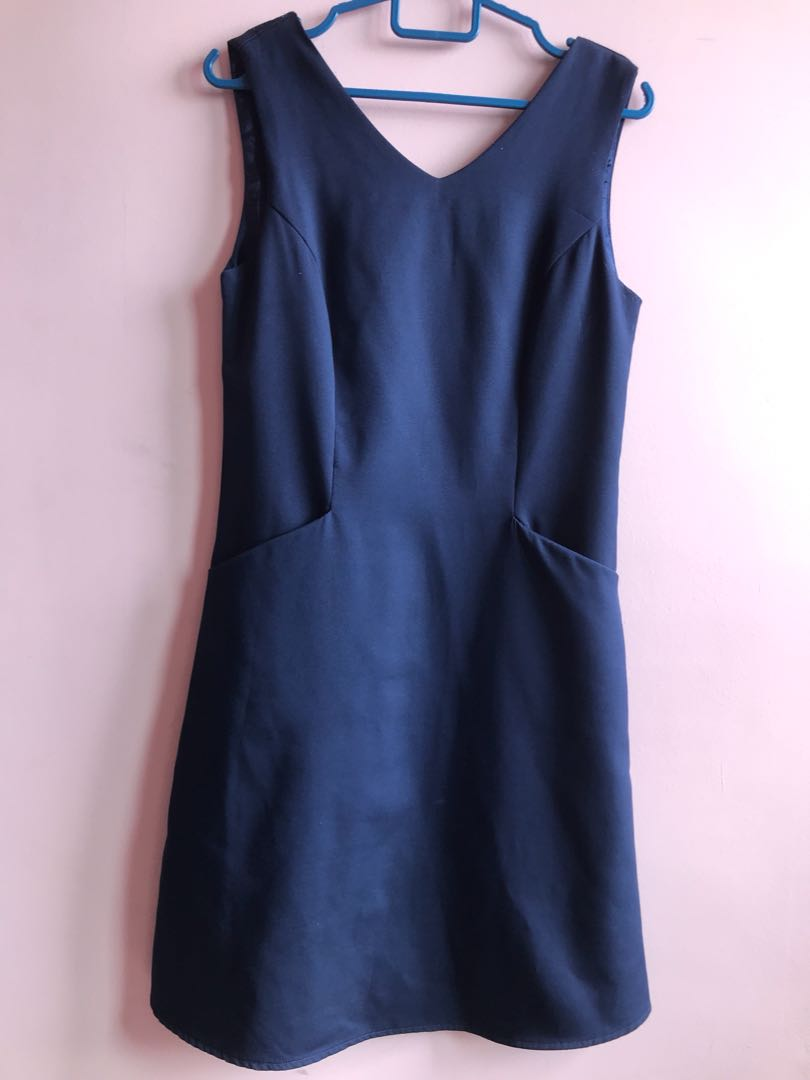 709746fab8e Navy Blue Shift Dress (w pockets)